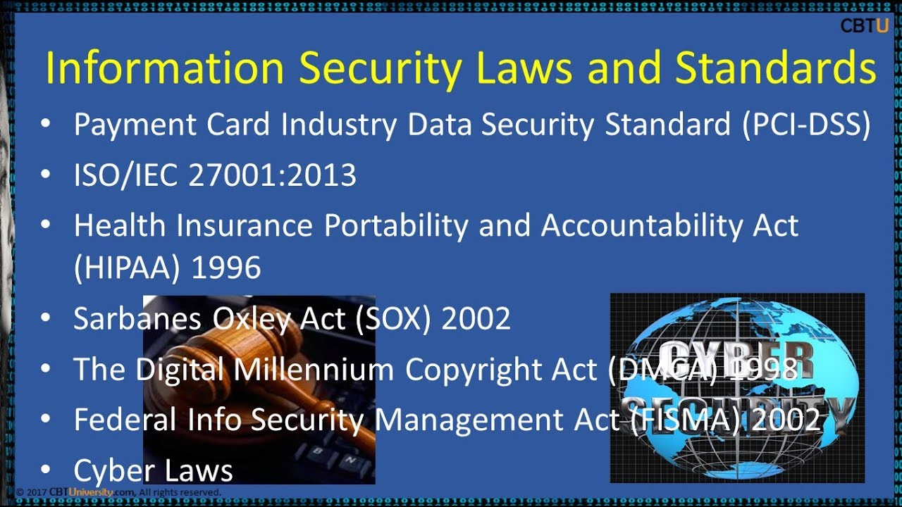 1 3 Information Security Laws and Standards