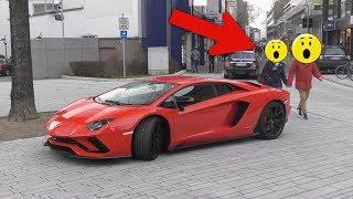 Lamborghini Aventador S - People Reactions in Düsseldorf!