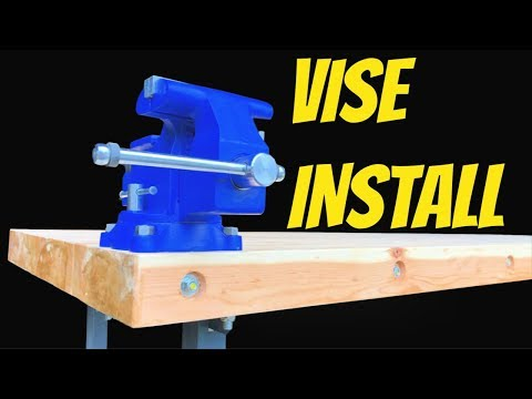 BENCH VISE - How To Install A Vise