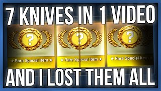 7 KNIVES IN 1 VIDEO AND I LOST THEM ALL