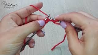 Лицевая скрещенная (бабушкина) петля. Вязание спицами (Knit Stitch)