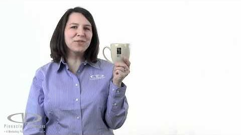 15 oz Glossy Bistro Promotional Coffee Mug Video