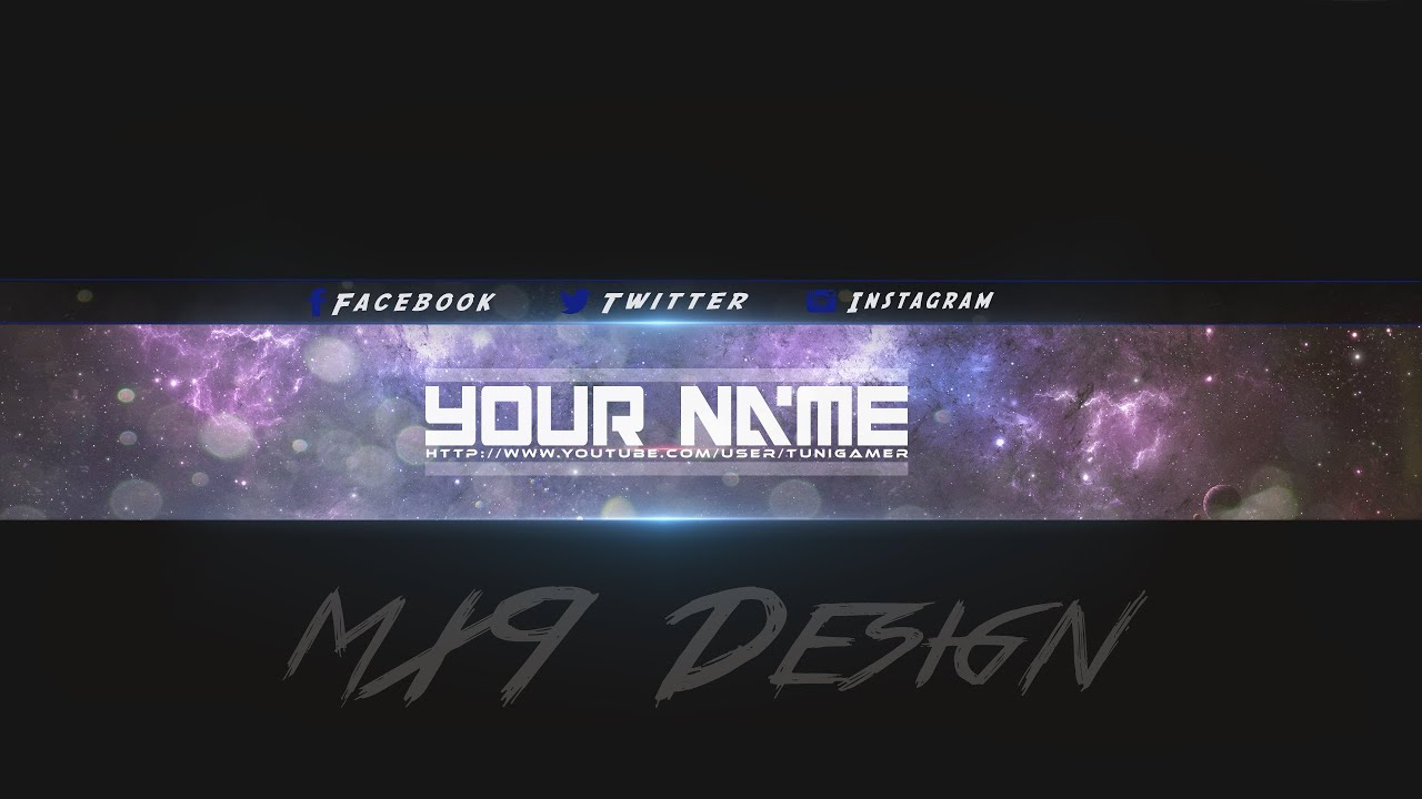 SpeedArt] FREE Amazing Youtube Channel Banner Template #3 + Direct ...