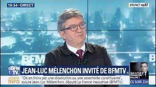 « MACRON A PARLÉ POUR NE RIEN DIRE » - Mélenchon