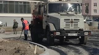 Строительство дороги на улице Флотской в Калининграде закончится в июне