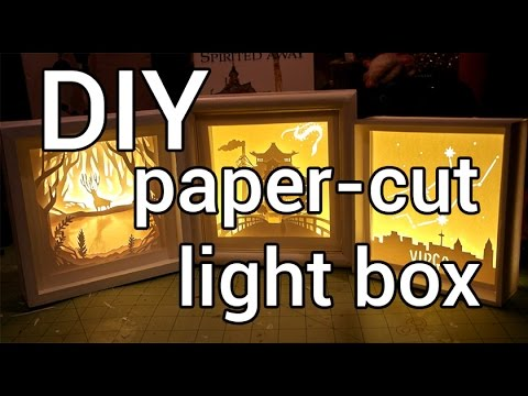 How To Make A Paper Cut Light Box Diy Youtube