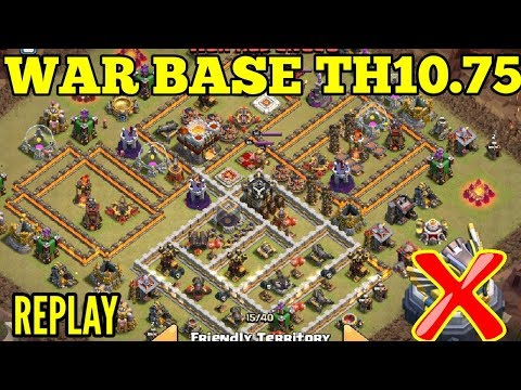 Clash Of Clans Ll War Base Th 10.75/10.5 Ll Anti 3 Star With Replay