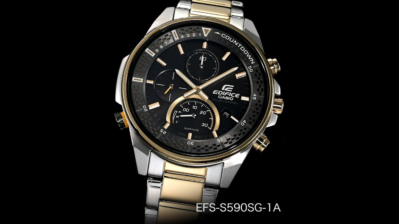 EFS-S590SG-1AV | THIẾT KẾ MỎNG GẮN TINH THỂ SAPHIA | EDIFICE | Đồng hồ | CASIO