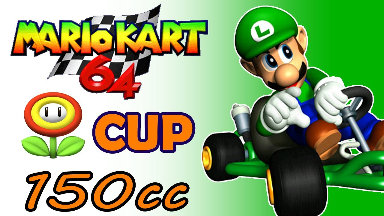 Mario Kart 64 150cc Flower Cup Luigi Gameplay N64 Youtube