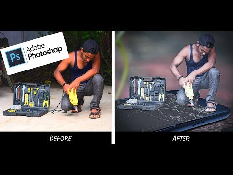 Mobile Drilling Photo Manipulation | Adobe Photoshop CC | Shaan Snaps