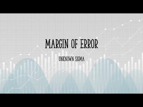 Margin of Error Unknown Sigma