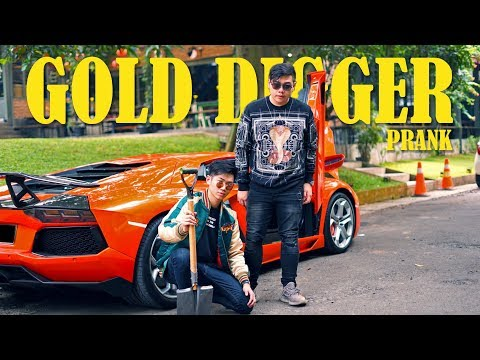 Lamborghini Gold Digger Prank in Indonesia!!