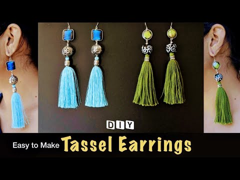 How to make Simple Tassel Earrings | DIY Tassels Earrings | VHMJ