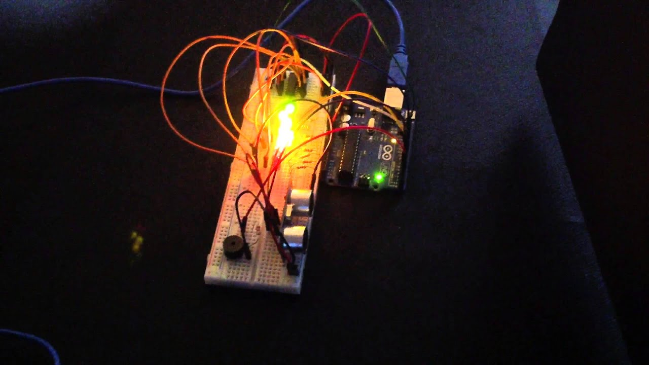 Arduino - Ultrasonic Sensor with LED's and buzzer | Random Nerd