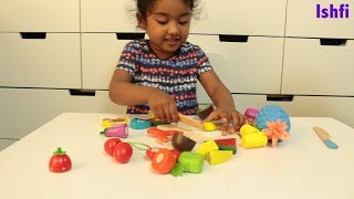 Ishfi Learn Name and Colors with toy fruits vegetables