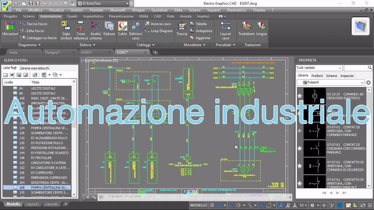 Schemi Elettrici Cad : Software per automazione industriale youtube