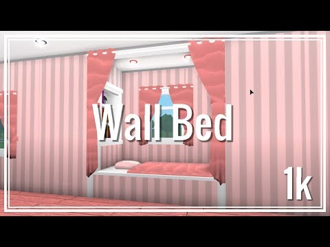 Roblox - Bloxburg: How to make a Wall Bed