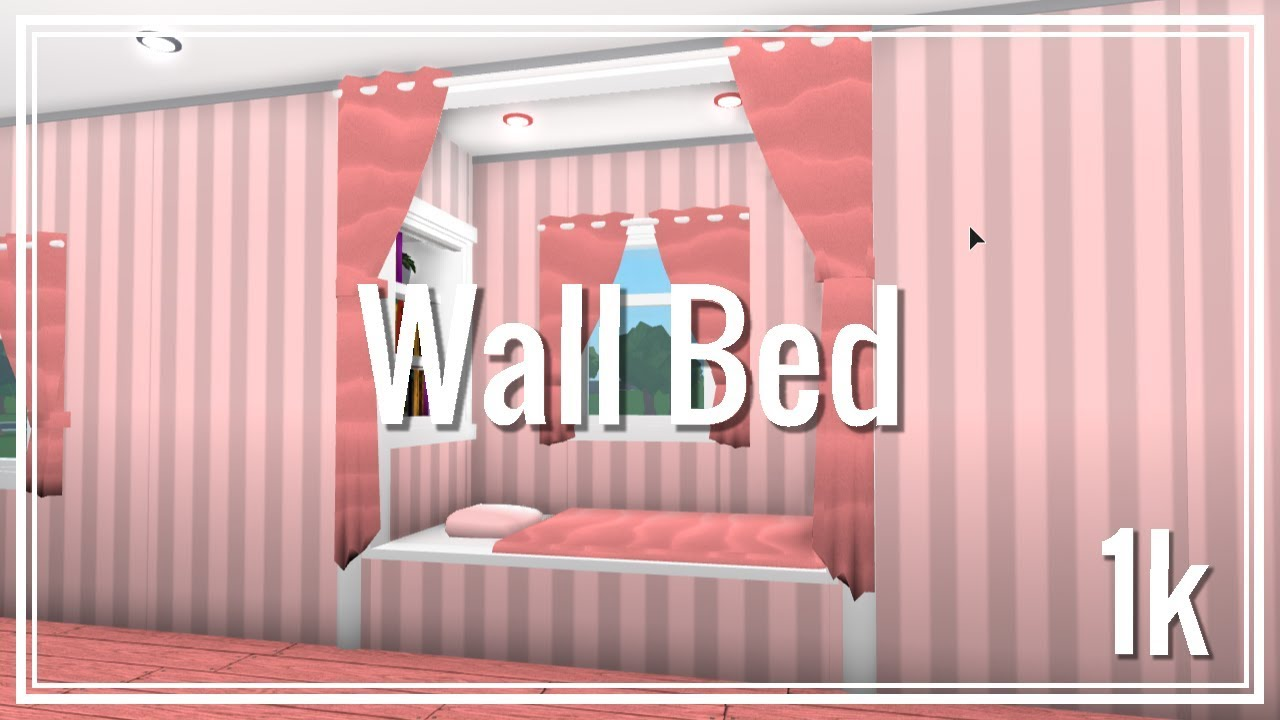 Roblox - Bloxburg: How to make a Wall Bed - YouTube