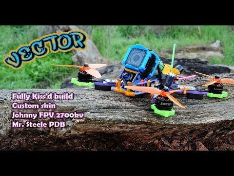 "Kinetic Aerial Vector 5"" + Mr. Steele PDB - Freestyle Drone - Custom Build Tutorial"