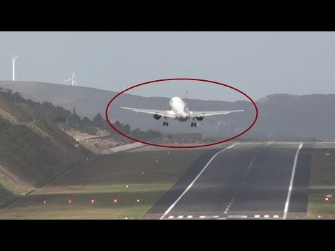 Dangerous Crosswinds Aborted and Landings Madeira Airport the scariest in Europe