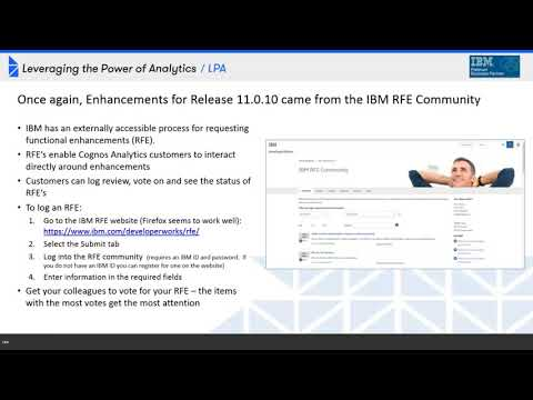 Webinar: What's New with Cognos Analytics v11.0.10 and Upgrade F.A.Q.