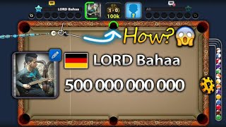 8 ball pool | 500 Billion coins complete | LORD Bahaa