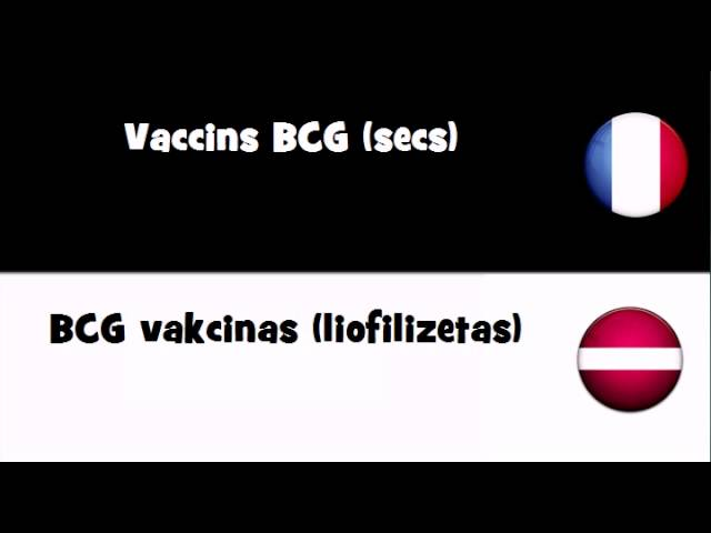 VOCABULAIRE EN 20 LANGUES = Vaccins BCG (secs) Travel Video