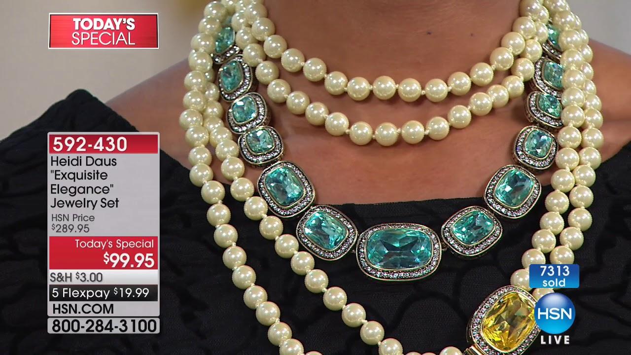 HSN   Heidi Daus Jewelry Designs 01.22.2018 - 09 PM - YouTube