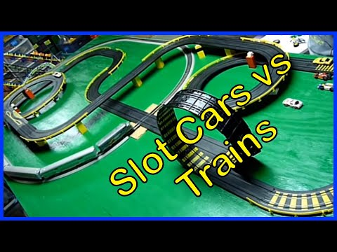 CARS & TRAINS FOR KIDS | SLOT CAR & TRAIN CRASHES with THOMAS the TANK ENGINE and more!