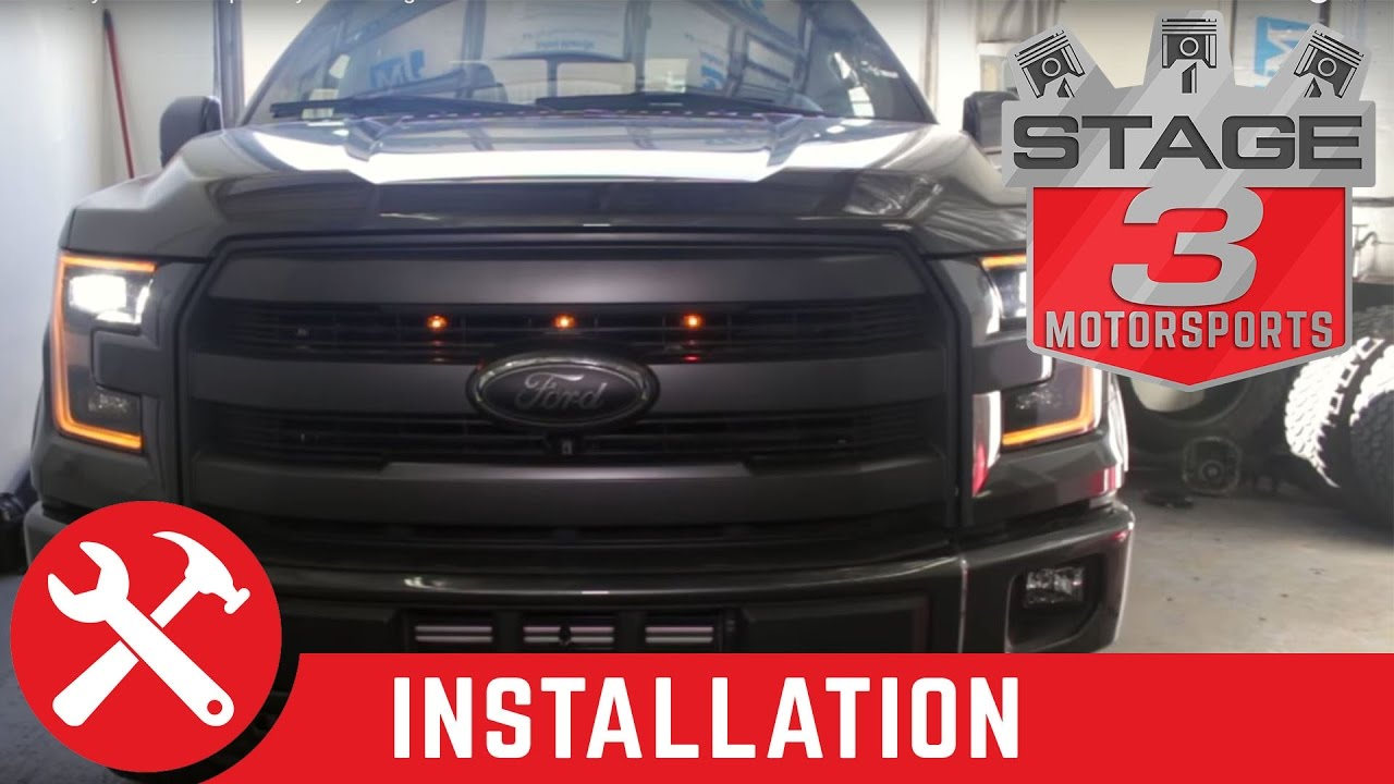 White Ford Raptor >> 2015-2016 F-150 Starkey Products Raptor Style Grille Light Kit Install - YouTube