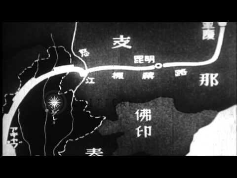 Japanese officers hold a battle conference in a field in Burma during the Burma C...HD Stock Footage