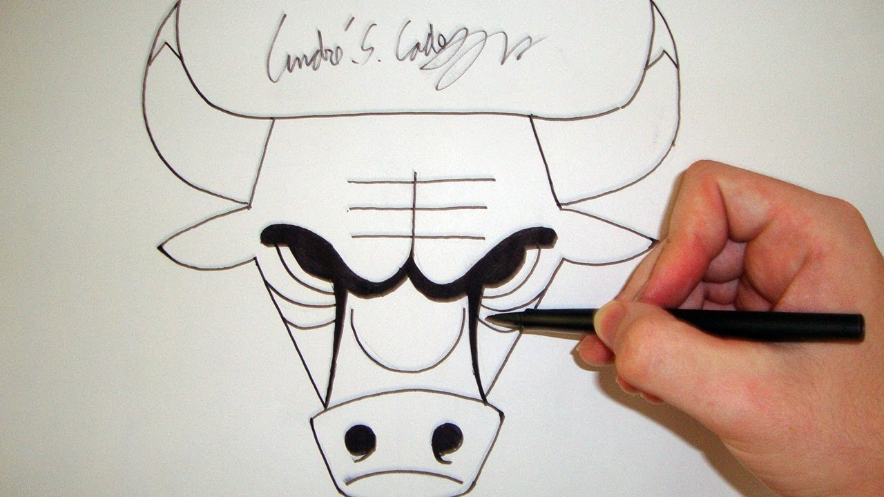 como desenhar a logo chicago bulls nba how to draw chicago bulls logo slay desenhos 46 youtube