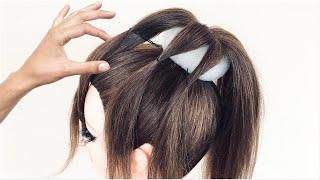Простая и красивая Прическа с бубликом которую легко повторить New Bun hairstyle for gown