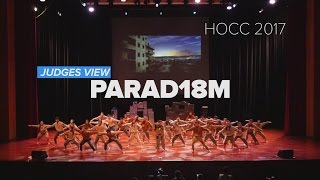 PIONEER HALL PARAD18M | HOCC 2016/2017 | JUDGES VIEW