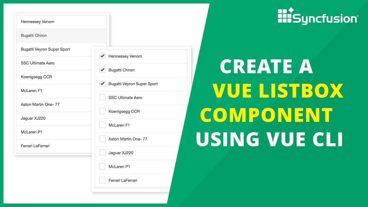 Create a Vue ListBox Component Using Vue CLI