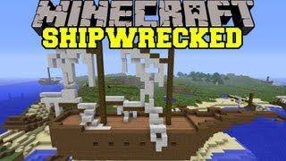 Minecraft : SHIPWRECKED (DESTROYED SHIPS AND TREASURES!) Shripwreck Mod Showcase