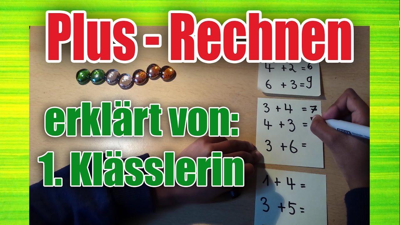 1. Klasse Mathe - Plus rechnen/ addieren / Addition bis 10 - YouTube