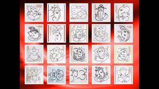 Ganesh Chaturthi Special Ganesha Ganpati Drawing for Kids- 20 Non Stop Compilation
