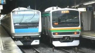 【JR東日本】京浜東北線233系 踊り子号等豪華三本立! 品川駅 tokyo japan
