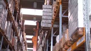 видео: New state-of-the-art automated warehouse system