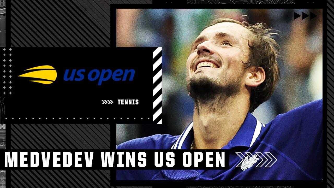 Download Daniil Medvedev stuns Novak Djokovic in straight sets to win 2021 US Open men's singles title