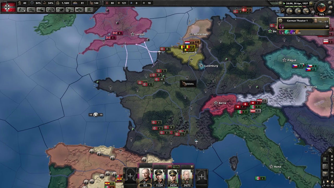 HOI4 - Taking the UK after conquering France early