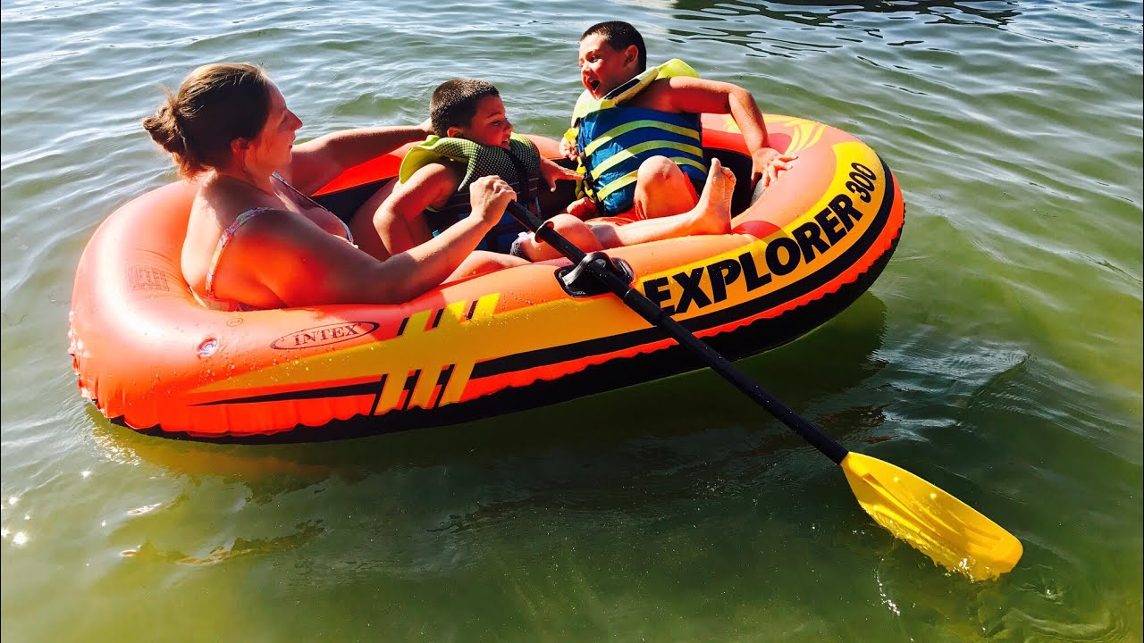 New Boat, Maiden Voyage  Intex Explorer 300 Raft