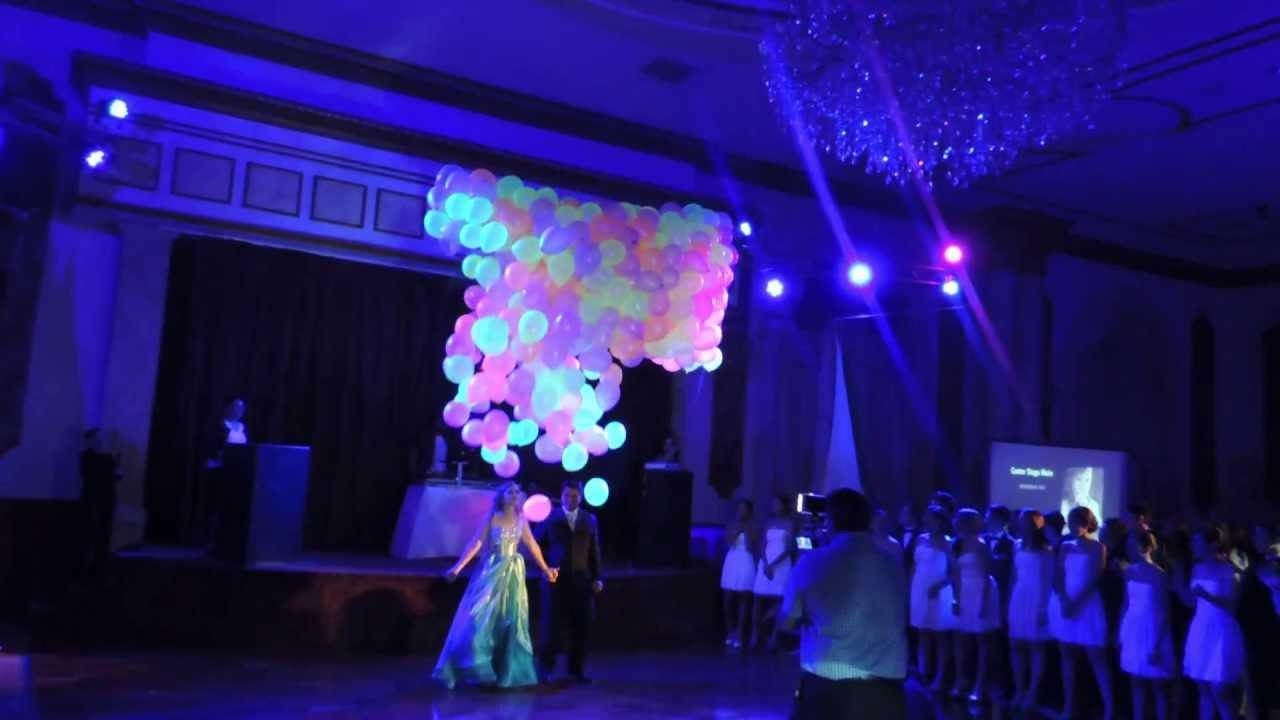 Decoracion Quincea?ero Neon ~ Lluvia de globos neon gLob  YouTube