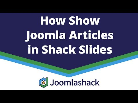 Create A Joomla Slideshow With Shack Slides And Articles