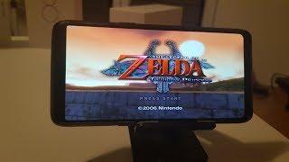 OnePlus 6 Legend of Zelda Twilight Princess Gameplay/Best Dolphin version Vulkan Snapdragon 845