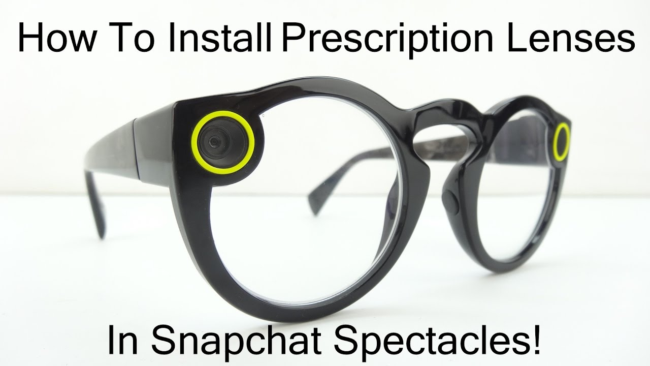 4488aa6ef8 How To Install Prescription Lenses In Snapchat Spectacles! - YouTube