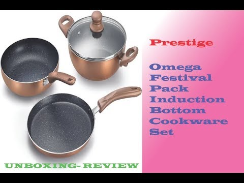 f80e5b9a757 Prestige Omega Festival Pack Induction Bottom Cookware Set -Unboxing ...