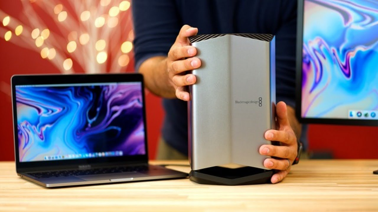 External GPU with AMD Radeon Pro 580 8GB will increase speeds 2 8 times on  the 15-inch MacBook Pro