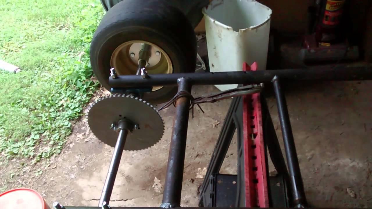 Homemade go kart brake hub